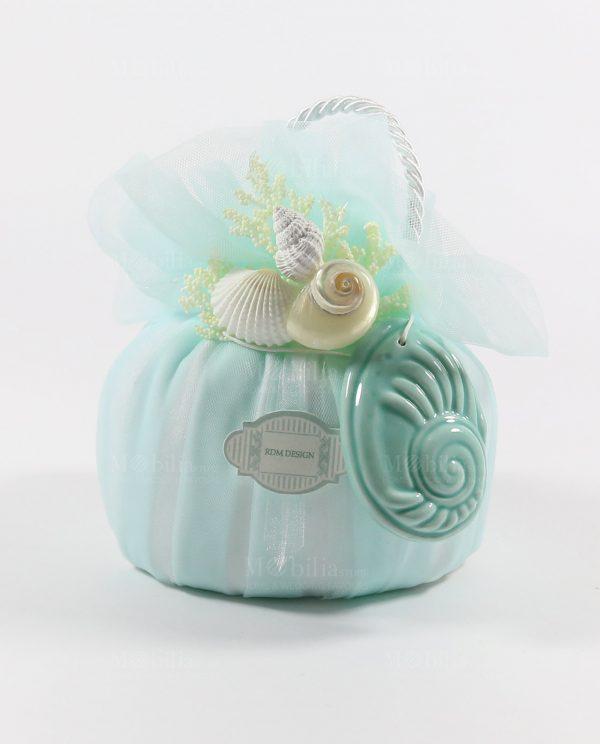 Sacchetti Matrimonio con confetti e Conchiglia Tiffany Rdm Design-Sacchetti Comunione Cresima con confetti e Conchiglia Tiffany Rdm