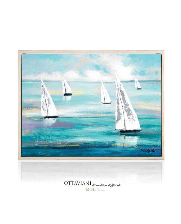Dipinti Moderni Vele Bianche sul Mare Ottaviani