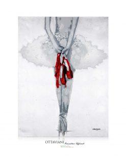Quadro Ballerina con Punte Ottaviani