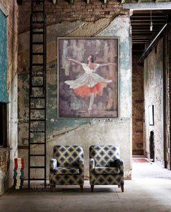 Quadro Ballerina danza classica ambientata