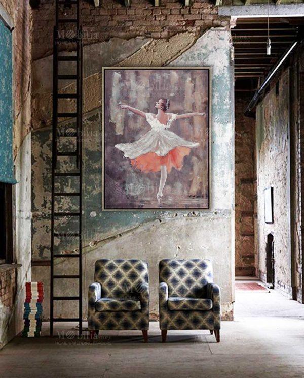 Dipinti Moderni su Tela Ballerina Danza Classica Ottaviani