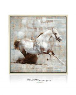 Quadro con cavallo bianco ottaviani