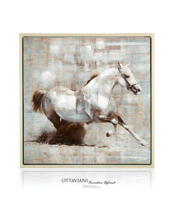 Quadri su Tela Moderni Cavallo Bianco Ottaviani