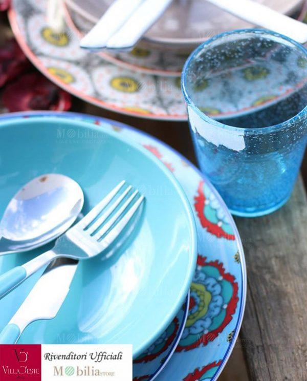 villa d'este bicchieri azzurri