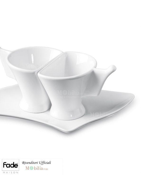 Tazzine Caffè Porcellana Bianca Fade