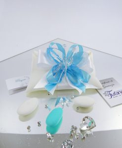 bomboniera farfalla azzurra cristallo tufano