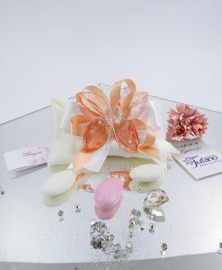 bomboniera farfalla color pesco cristallo