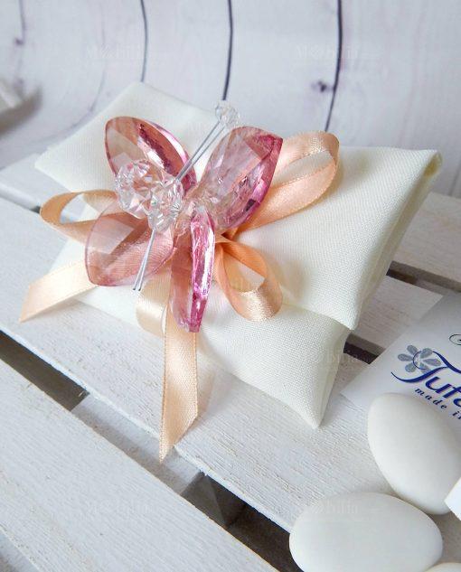 bomboniera farfalla cristallo svarosvki rosa