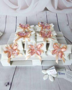 bomboniera farfalla rosa cristallo swarovski