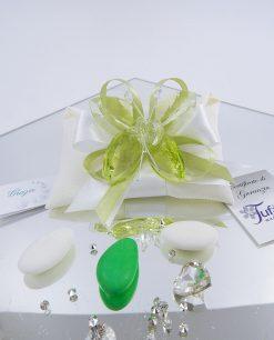 bomboniera farfalla verde cristallo tufano