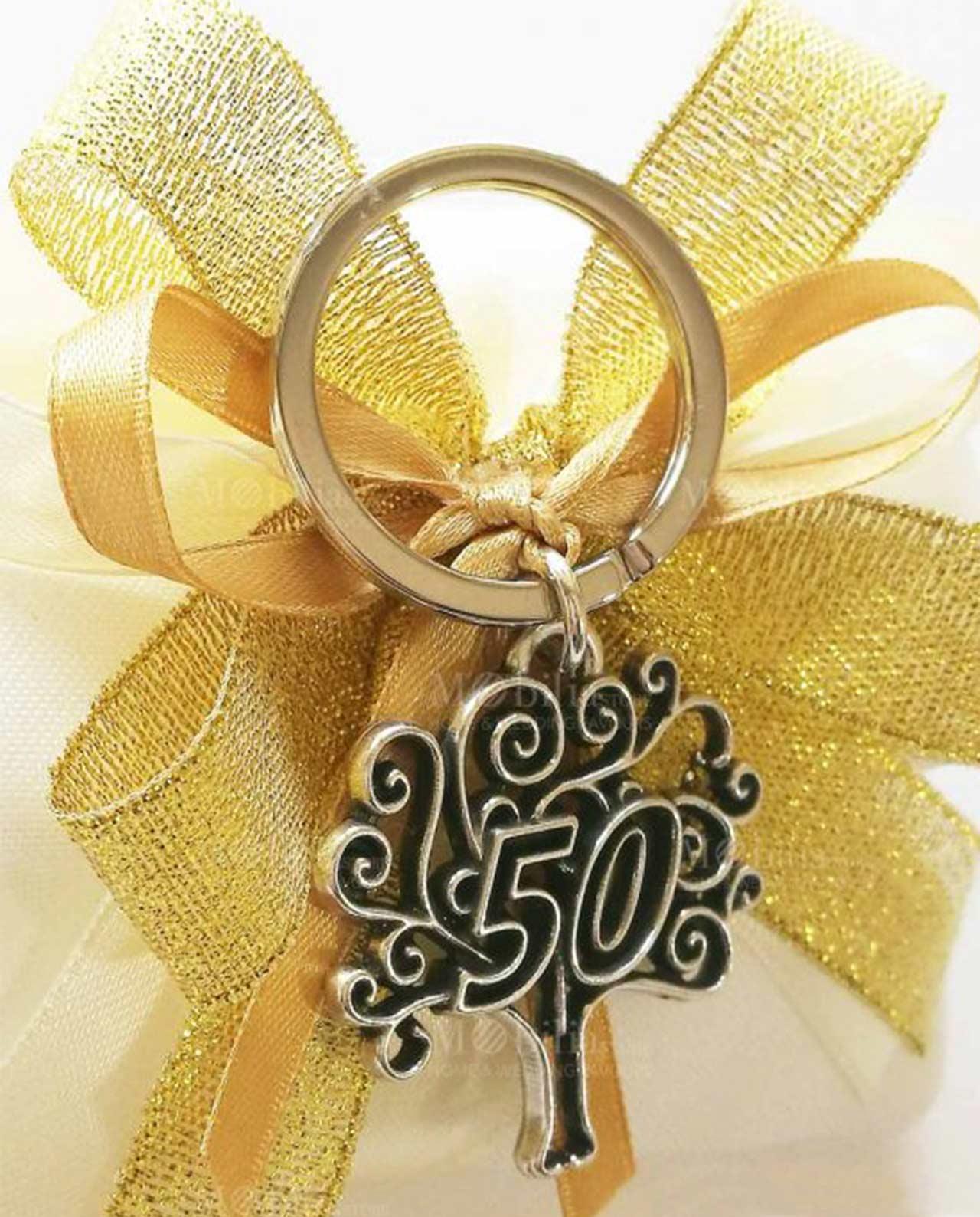 Conosciuto Bomboniere Matrimonio 50 Anni con Portachiavi Albero della Vita BL68