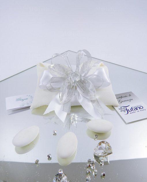 bomboniere farfalla trasparente cristallo tufano