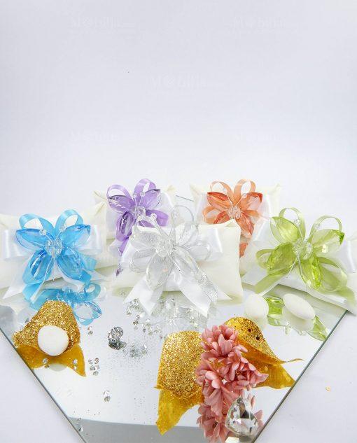 bomboniere farfalle cristallo tufano vari colori