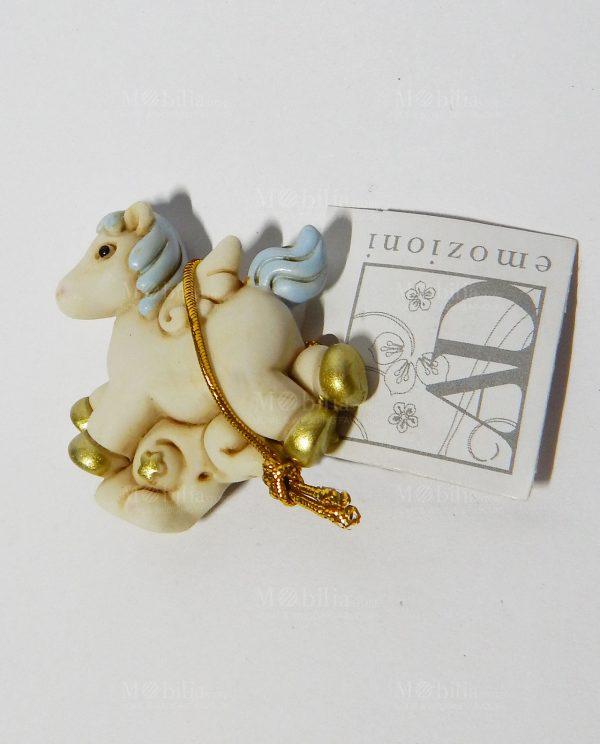 Bomboniere Battesimo Bimba Cavallucci Unicorno Blu AD Bomboniere