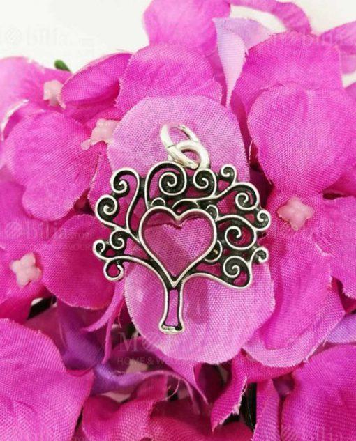 ciondolo argento albero della vita e cuore tabor
