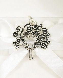 ciondolo argento bomboniera albero della vita