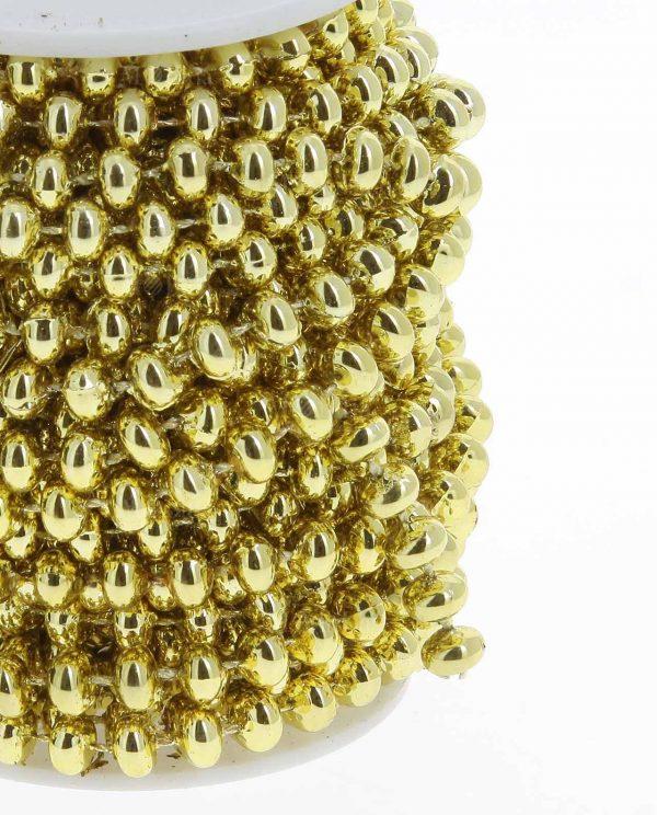 Bobina Filo Perline Oro Metri 10