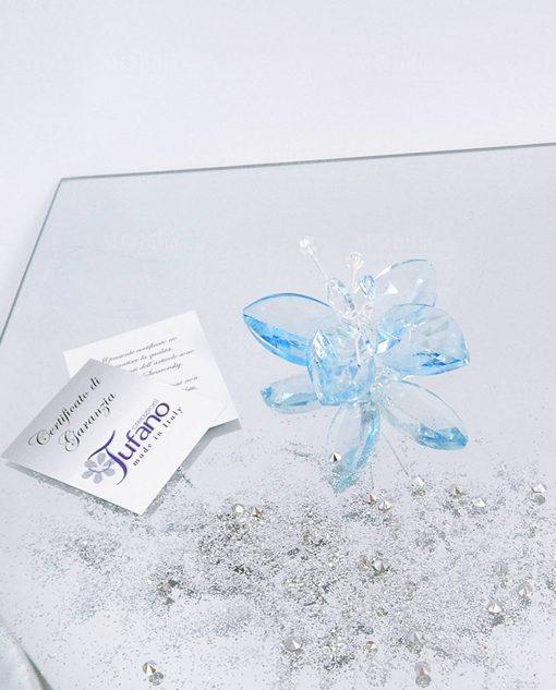 farfalla cristallo swarovsky azzurro tufano