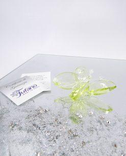 farfalla cristallo swarovsky verde tufano