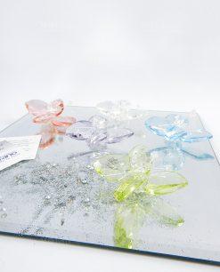 farfalla in cristallo vari colori tufano