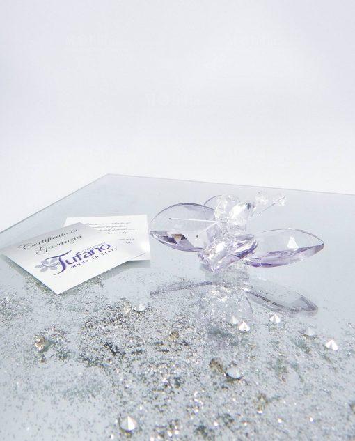 farfalla lilla cristallo tufano