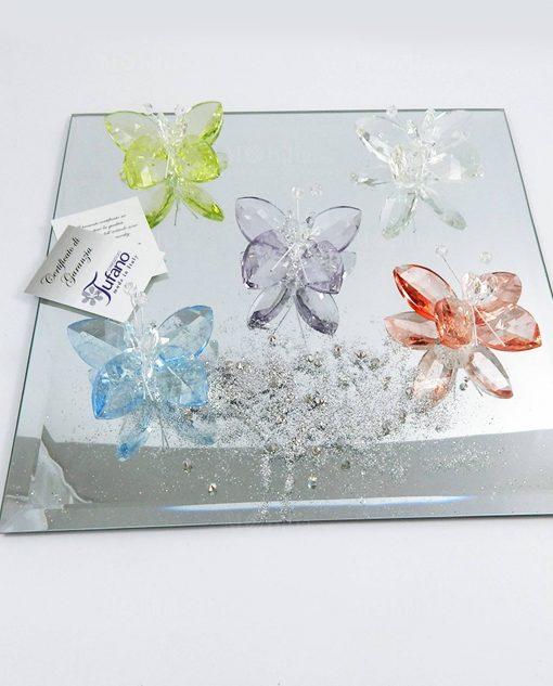 farfalle cristallo swarovski tufano vari colori