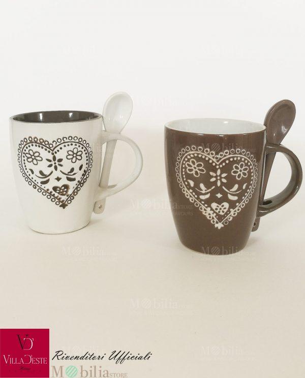 Mug Ceramica Decorata Corazon Villa d'Este