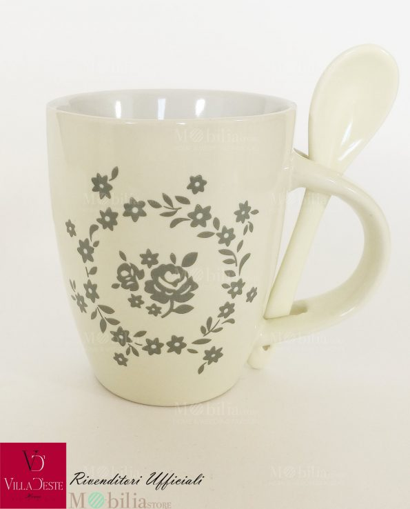 Mug Ceramica Decorata con Rose Romantic Villa d'Este