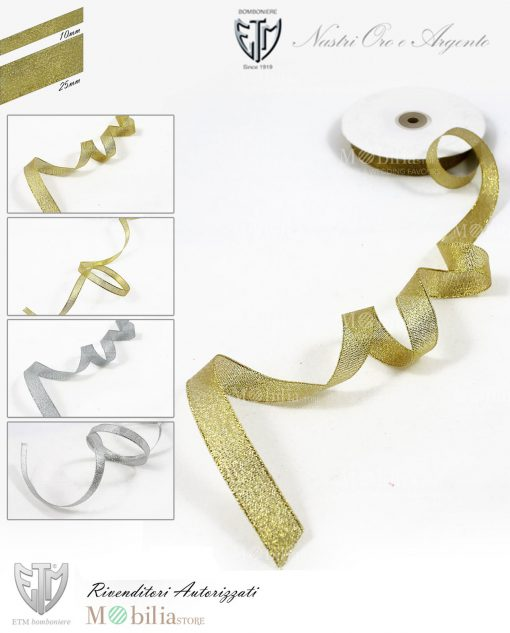 nastro oro argento