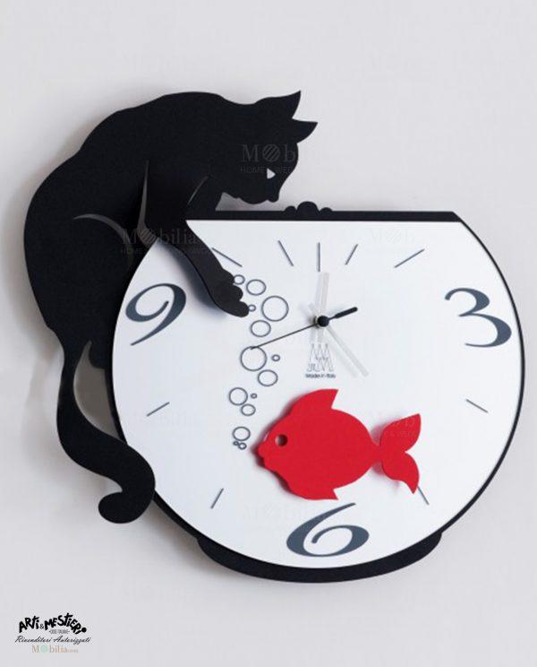 Orologio da Parete Moderno Tommy Fish Arti e Mestieri