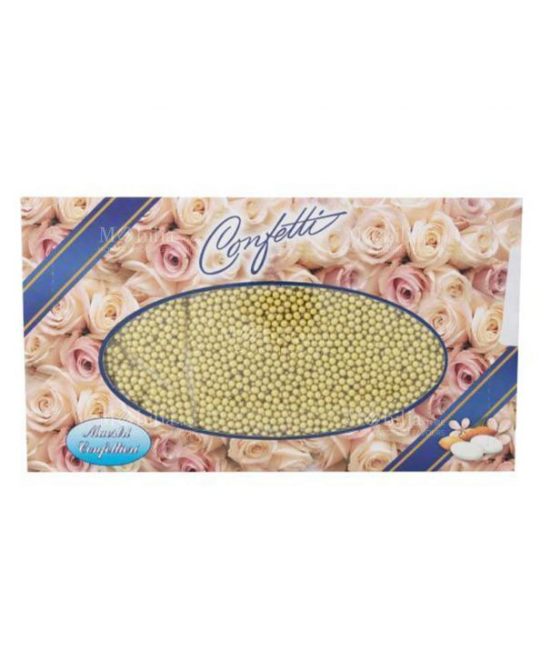 Confetti Perline Sferiche Dorate