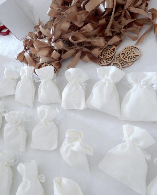 sacchetti portaconfetti bianchi albero della vita