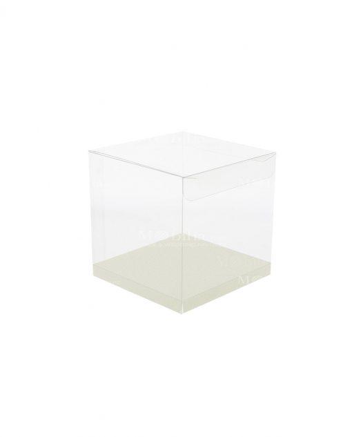 scatola pvc trasparente con fondo 10 X 10 X 14 cm
