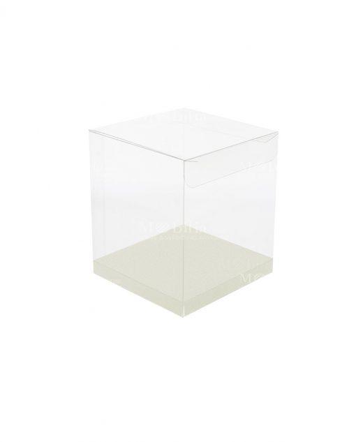 scatola rettangolare pvc trasparente 10 X 10 X 16 cm