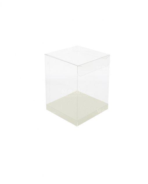 scatola rettangolare pvc trasparente 8 X 8 X 13 cm