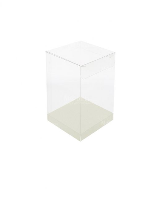 scatola rettangolare pvc trasparente 8 X 8 X 15 cm