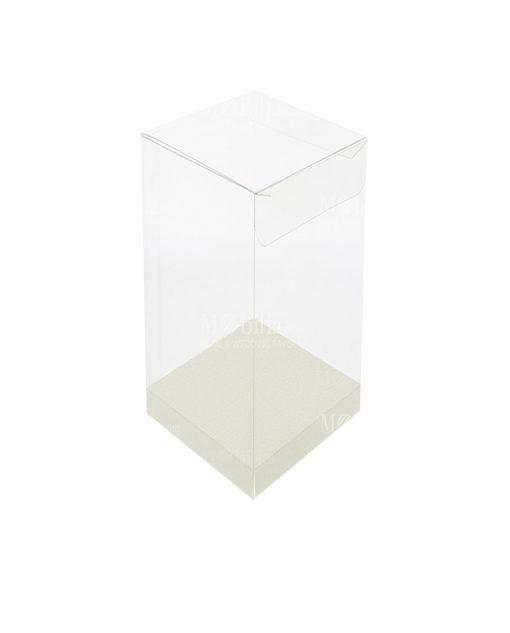 scatola rettangolare pvc trasparente 8 X 8 X 18 cm