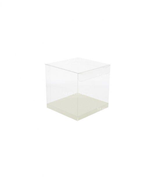 scatola rettangolare pvc trasparente 8 X 8 X 9 cm