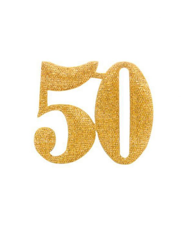 applicazione 50 color oro glitterata