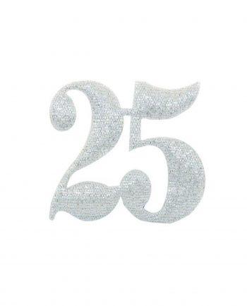 Nozze d'Argento Applicazioni per Bomboniere con Numero 25