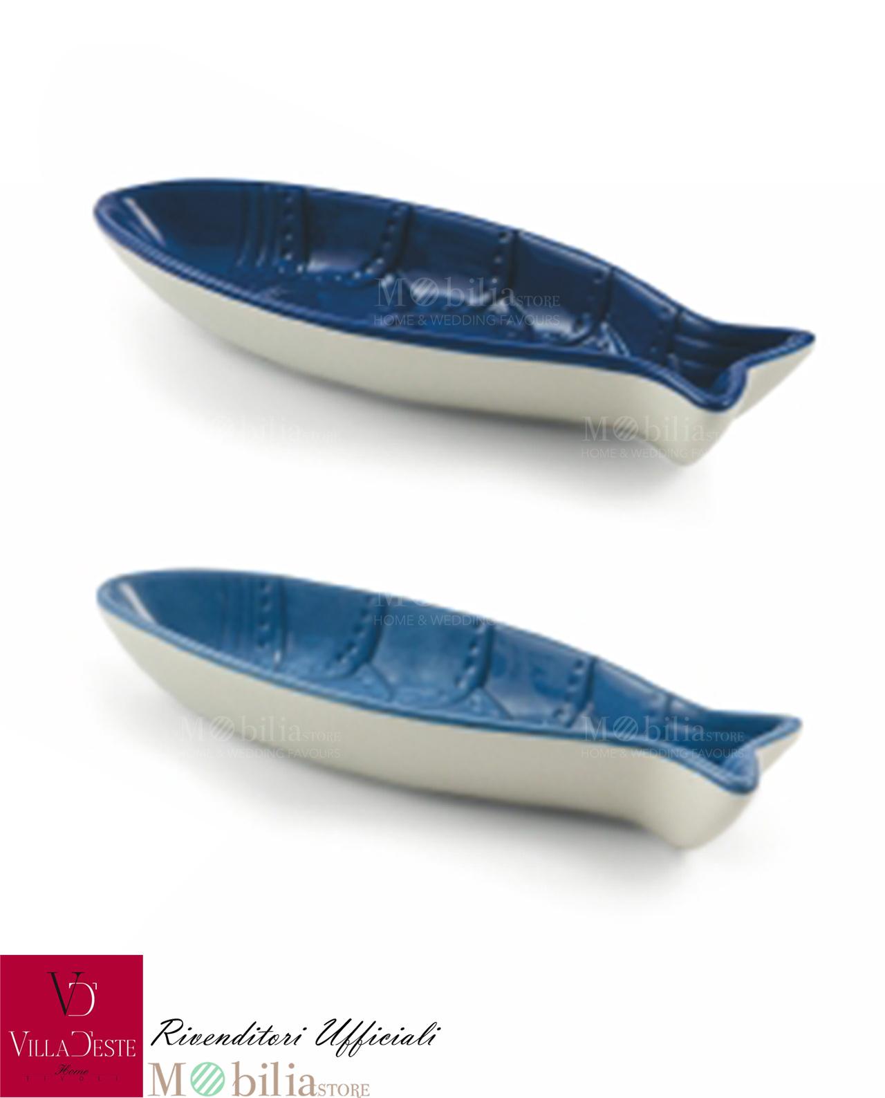 Ciotolina pesce ceramica blu fish villa d 39 este promozione for Pesci per laghetti esterni