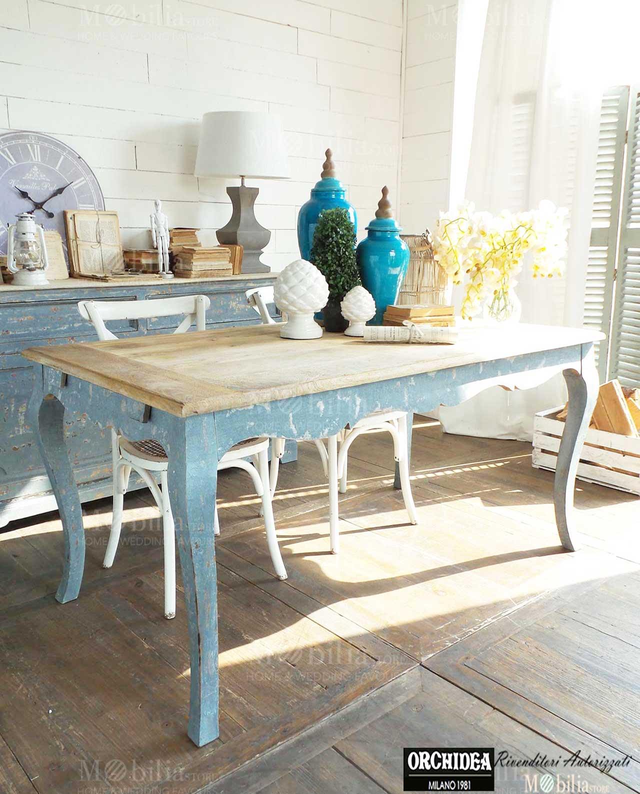 Tavolo legno mango rotondo allungabile spedizione gratuita mobilia store home favours - Tavolo rotondo vintage ...