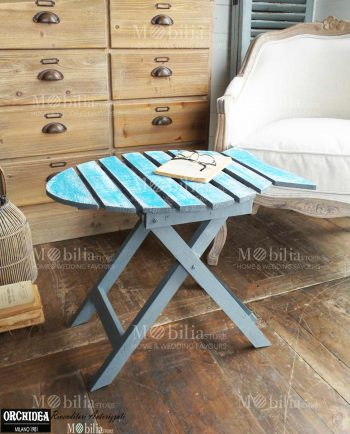 Tavoli richiudibili legno Vintage pesce azzurro