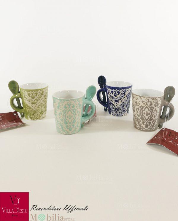 Tazzine da Caffè Particolari Ceramica Marocco Villa D'Este