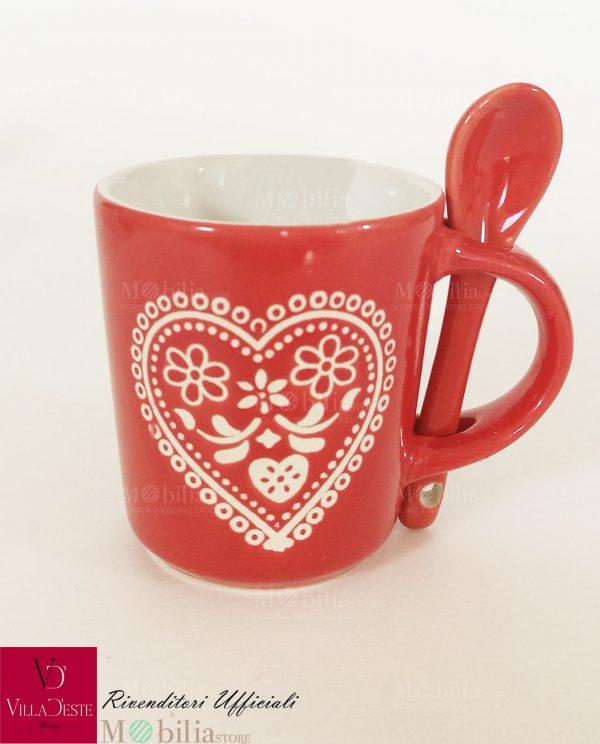 Tazzine da Caffè Ceramica Decorata Corazon Villa D'Este