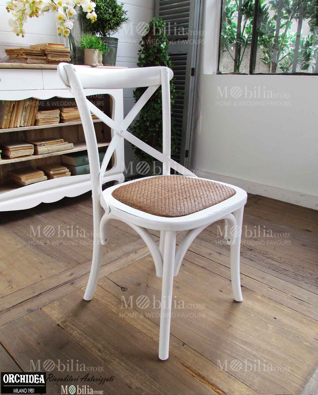 Sedie imbottite shabby olmo naturale rattan mobilia for Mobilia outlet