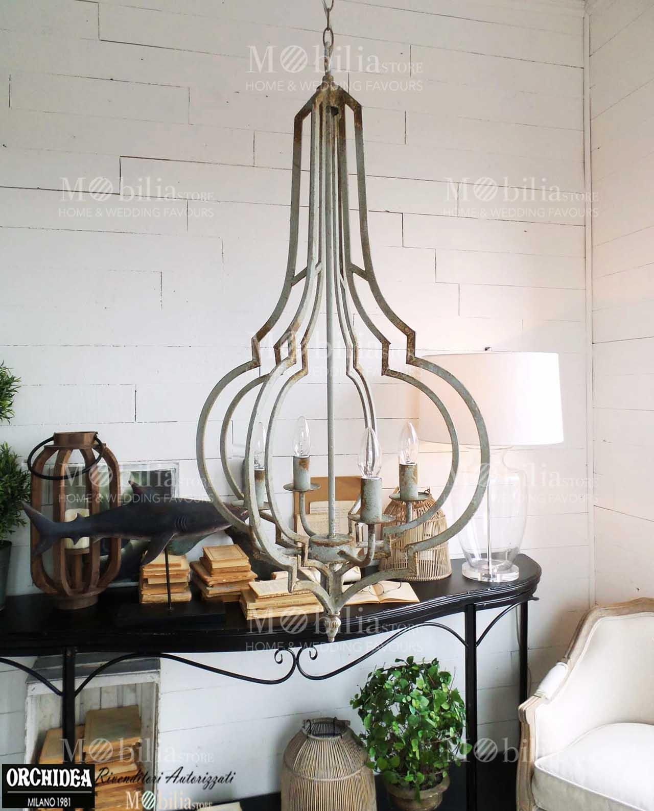 Lampadari Moderni Vintage ferro battuto