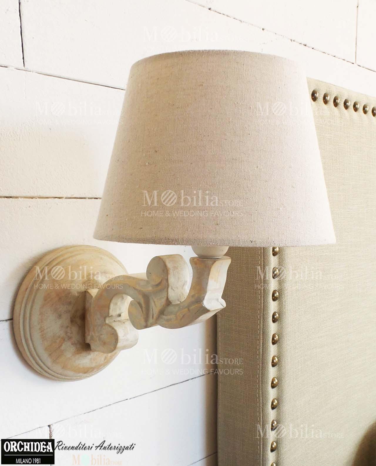Lampade da parete legno shabby chic