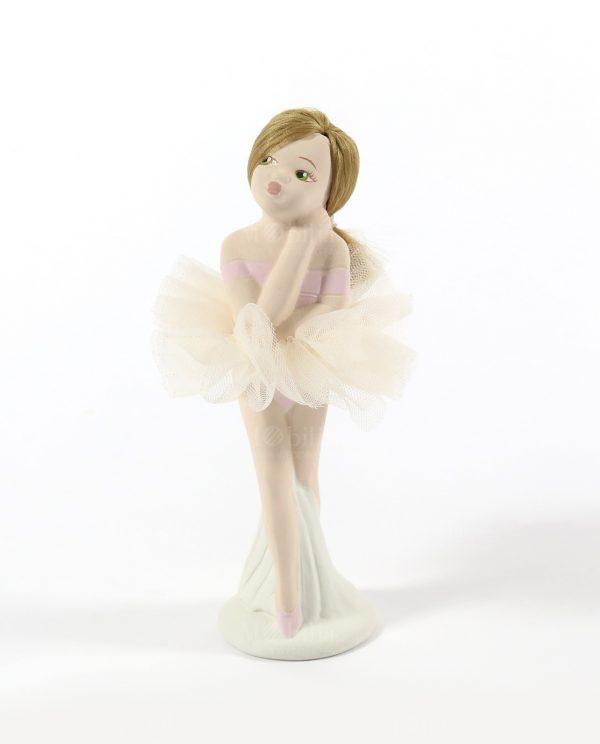 ballerina in piedi con tutù panna rdm design