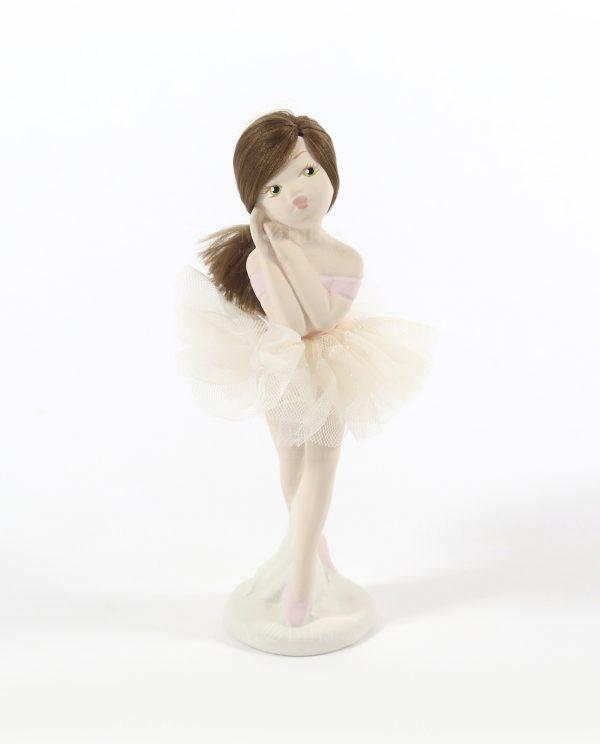 ballerina in porcellana con tutù in organza rdm design